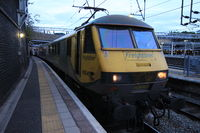 Locomotive du Caledonian Sleeper en gare de London Euston