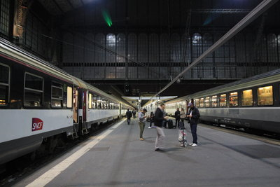 Paris Irun en train de nuit