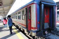 Wagon Bosphore Express (train Bucarest – Istanbul) en gare de Gara București Nord